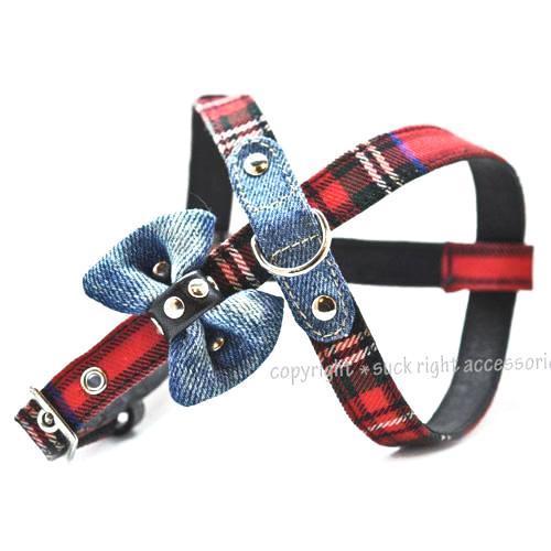 Punky Red Sliding Dog Harness