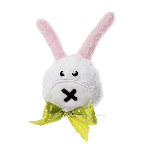 Rabbit Head Dog Toy