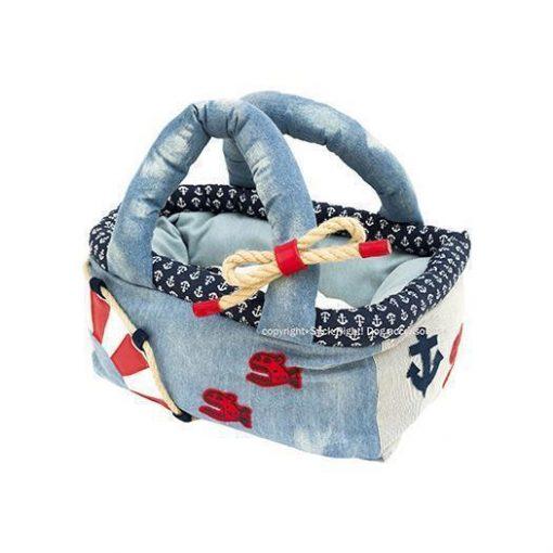 Red Piranha Basket Bag Dog Carrier