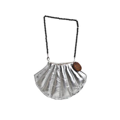 Silver Shell Poop Bag Holder