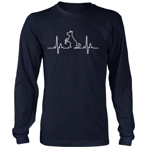 Dog Heartbeat Long Sleeve Tee