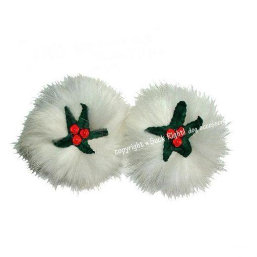 Xmas Mistletoe Dog Hair Clip
