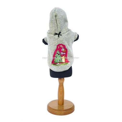 Xmas Tree Hooded Dog Pullover